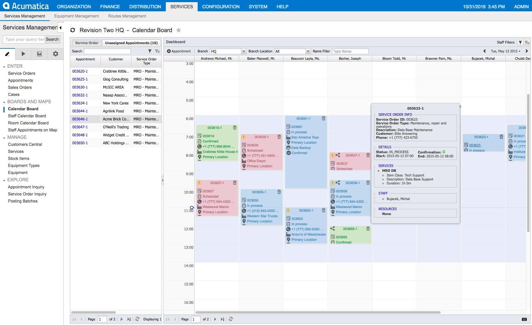 Acumatica Cloud ERP: Field Services Edition